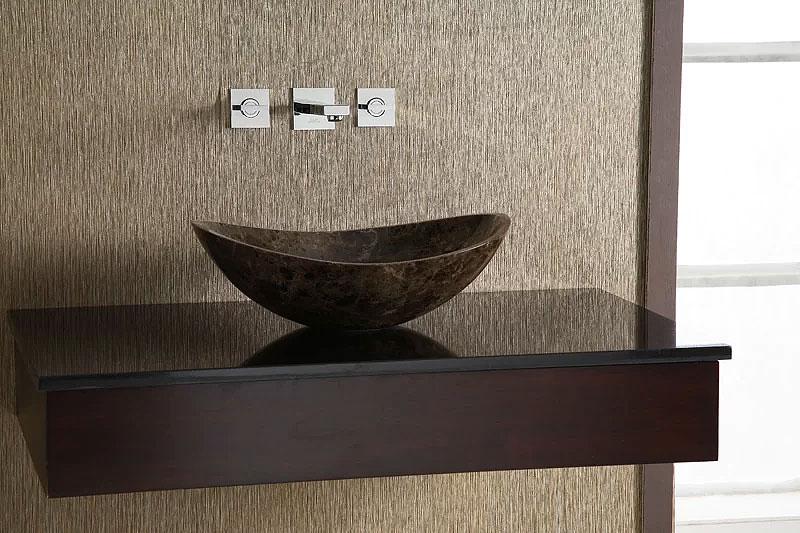 Curved Marble Vessel Bathroom Sink