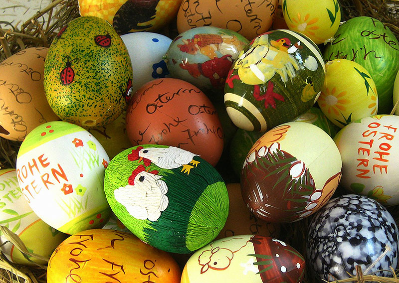 Cute Hand Painted Easter Eggs