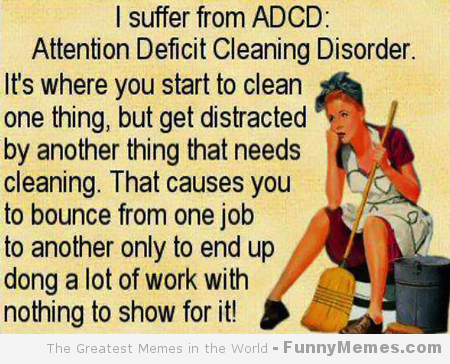 House Cleaning Meme | ADCD: Attention Deficit Cleaning Disorder