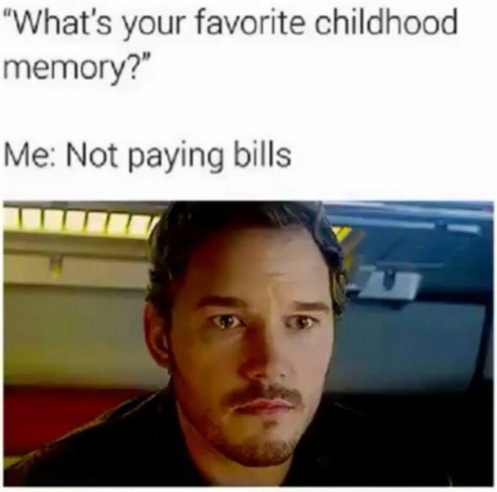 Personal & Home Finance Meme    Favorite Childhood Memory