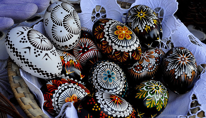 Traditional Hand Painted Easter Eggs