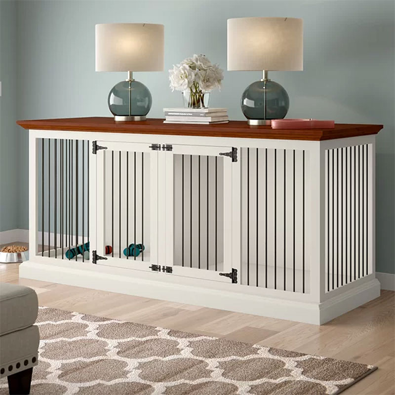 Brooke Double Wide Large Credenza Dog Crate Furniture