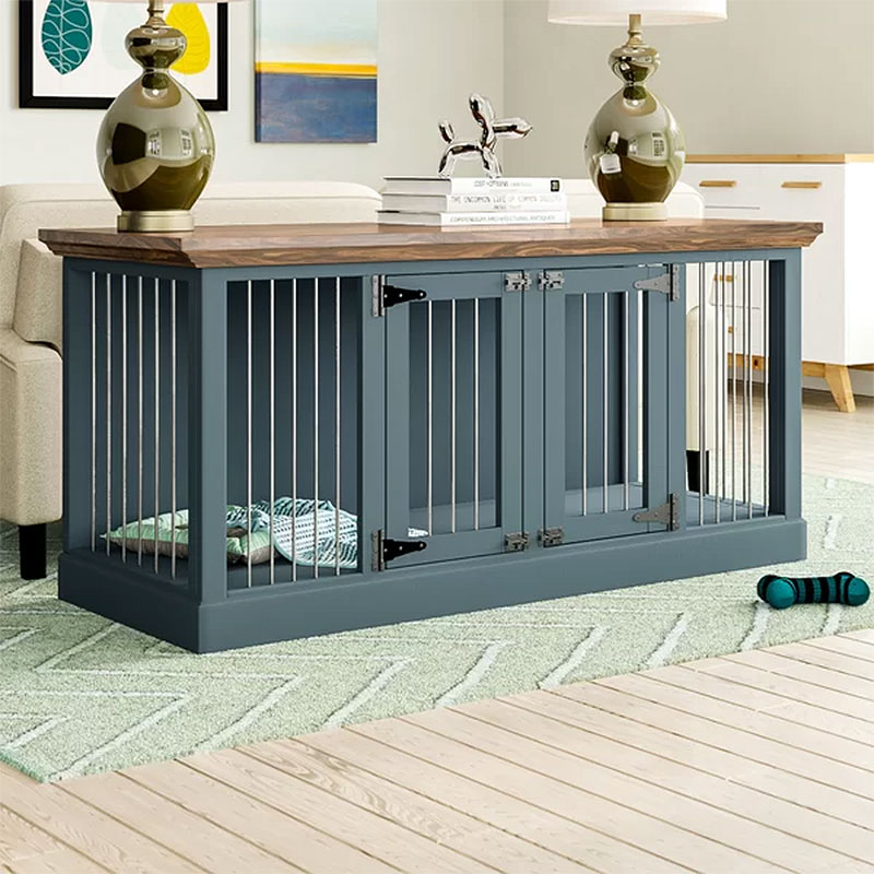 Damien Double Wide Credenza Dog Crate Furniture