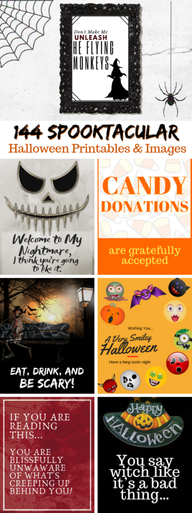 144 Spooktacular Free Halloween Printables & Clip Art Images