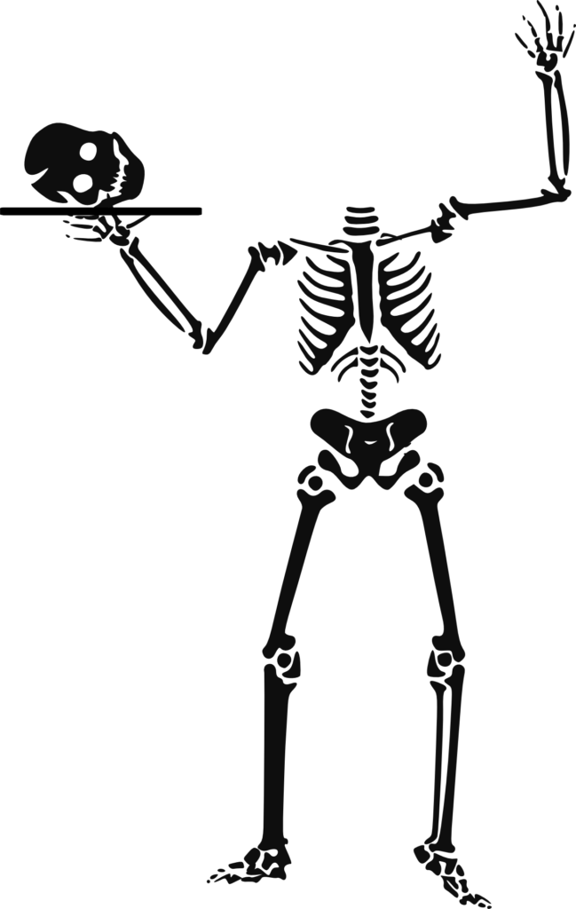 Beheaded Skeleton Free Halloween Printable Clip Art