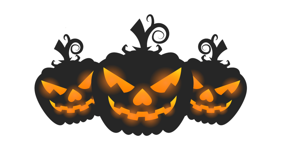 Black Pumpkins Free Halloween Printable Clip Art