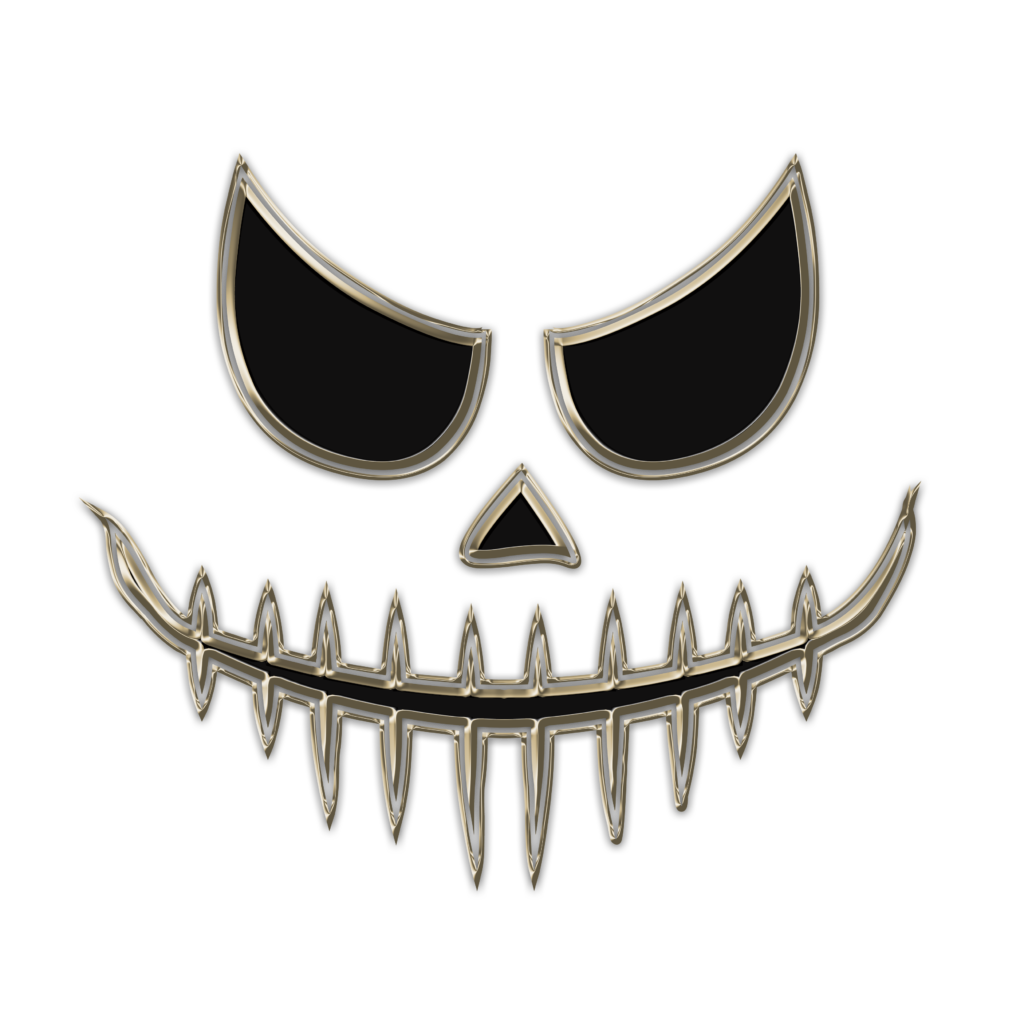 Chrome Skull Free Halloween Printable Clip Art