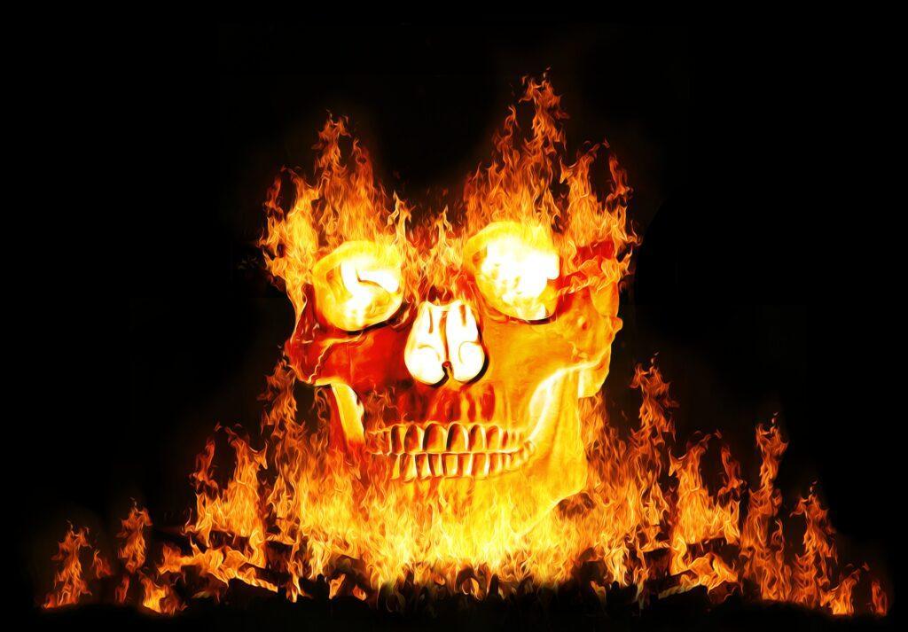 Flaming Skull | Halloween Art You Can Print