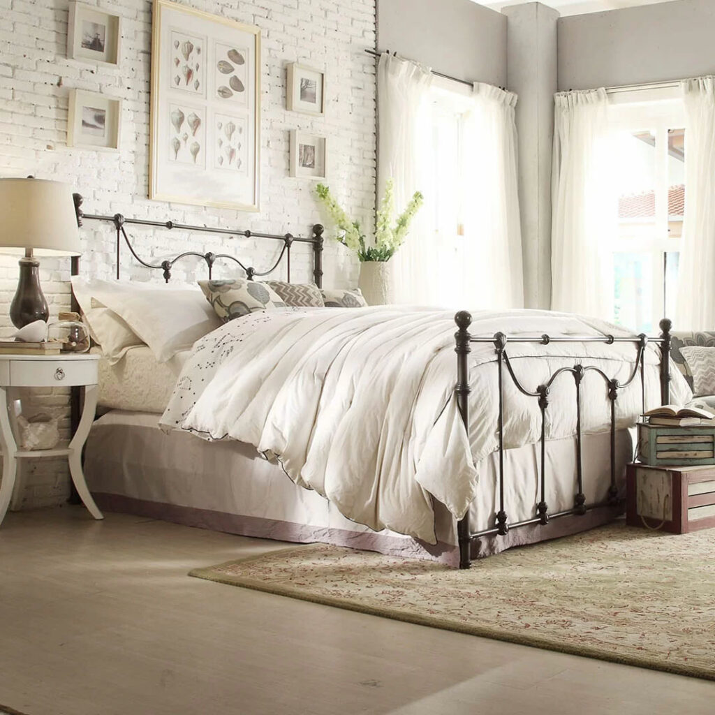 French Country Loft-Style Bedroom