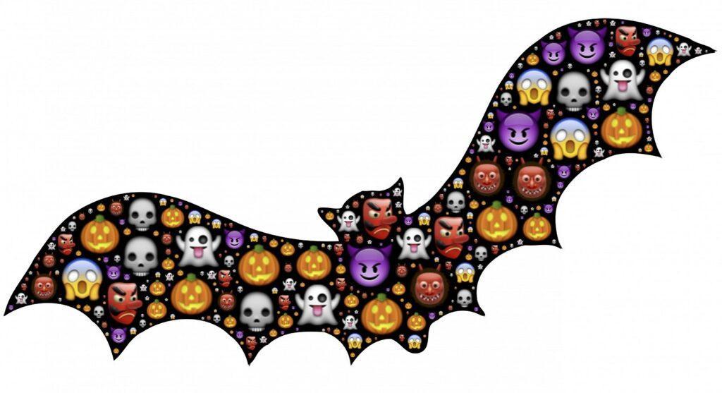 Halloween Emoji Bat | Printable Halloween Art