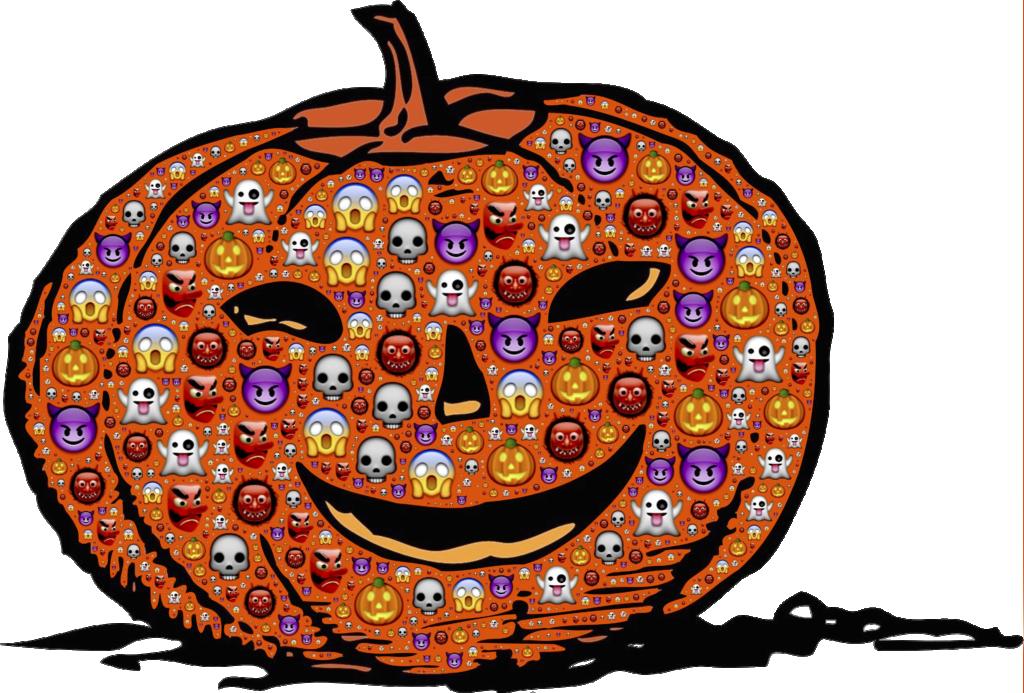 Halloween Emoji Pumpkin | Printable Halloween Art
