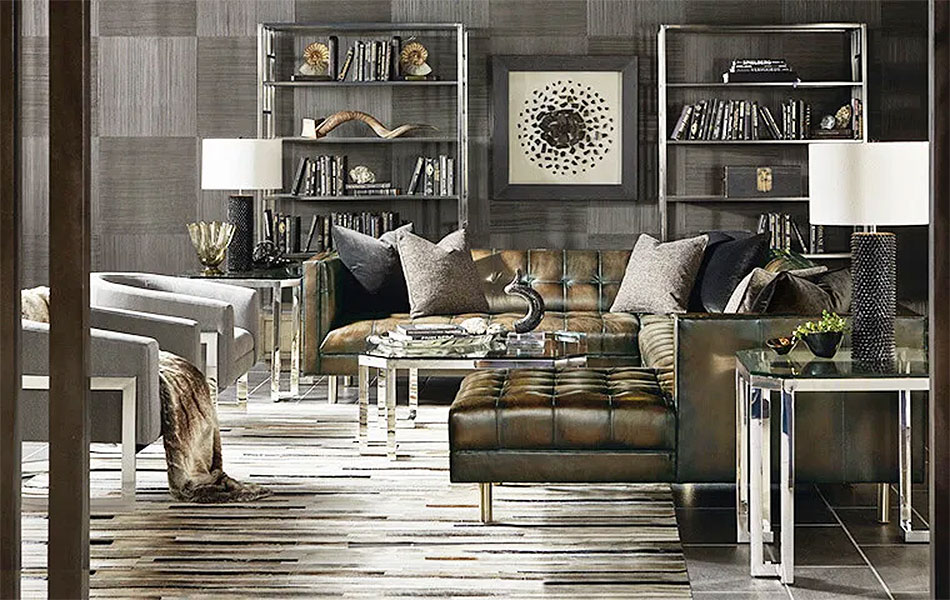 Dad's Den - Designed by Kathy Kuo Home