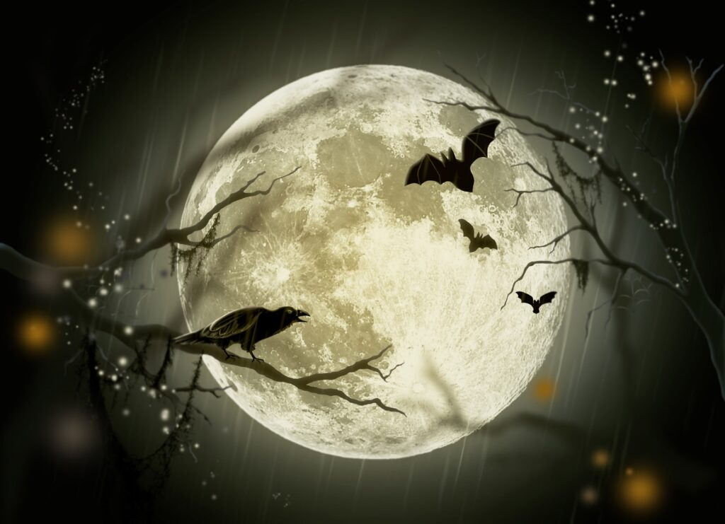 Moon Crows | Halloween Pictures You Can Print