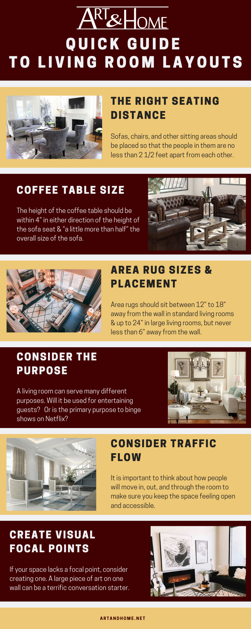 Quick Guide to Living Room Layouts: The Infographic