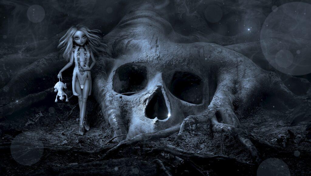 Skull Fantasy | Print Your Own Halloween Art