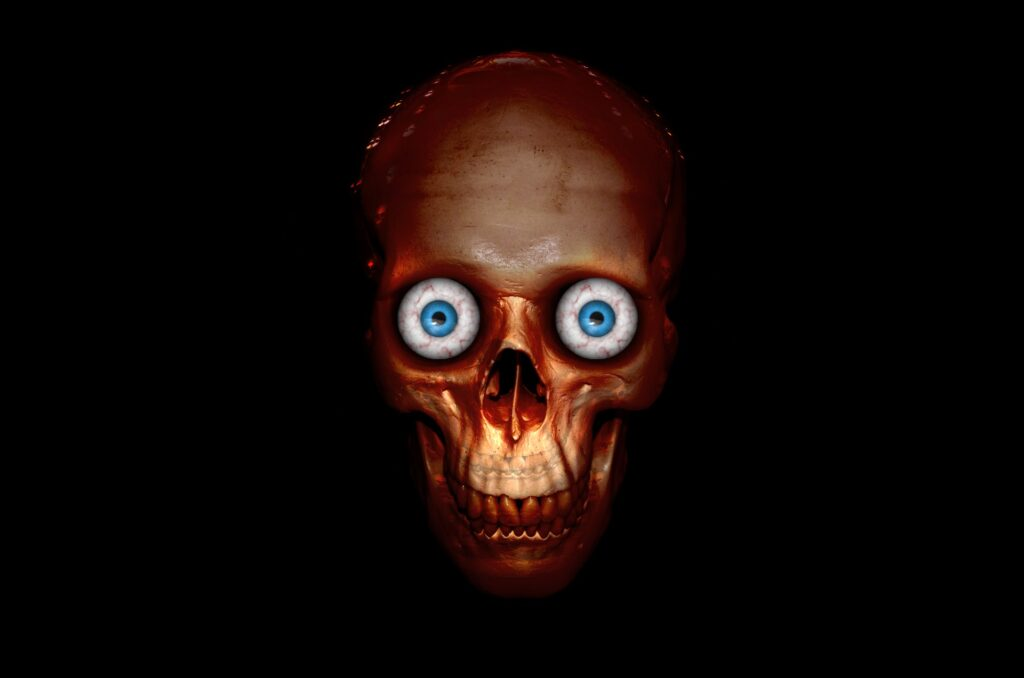 Skull with Eyeballs | Printable Halloween Art