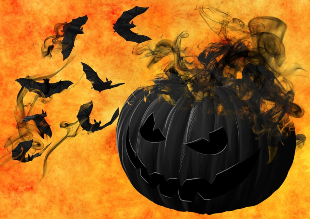 Smoking Black Pumpkin Free Halloween Printable