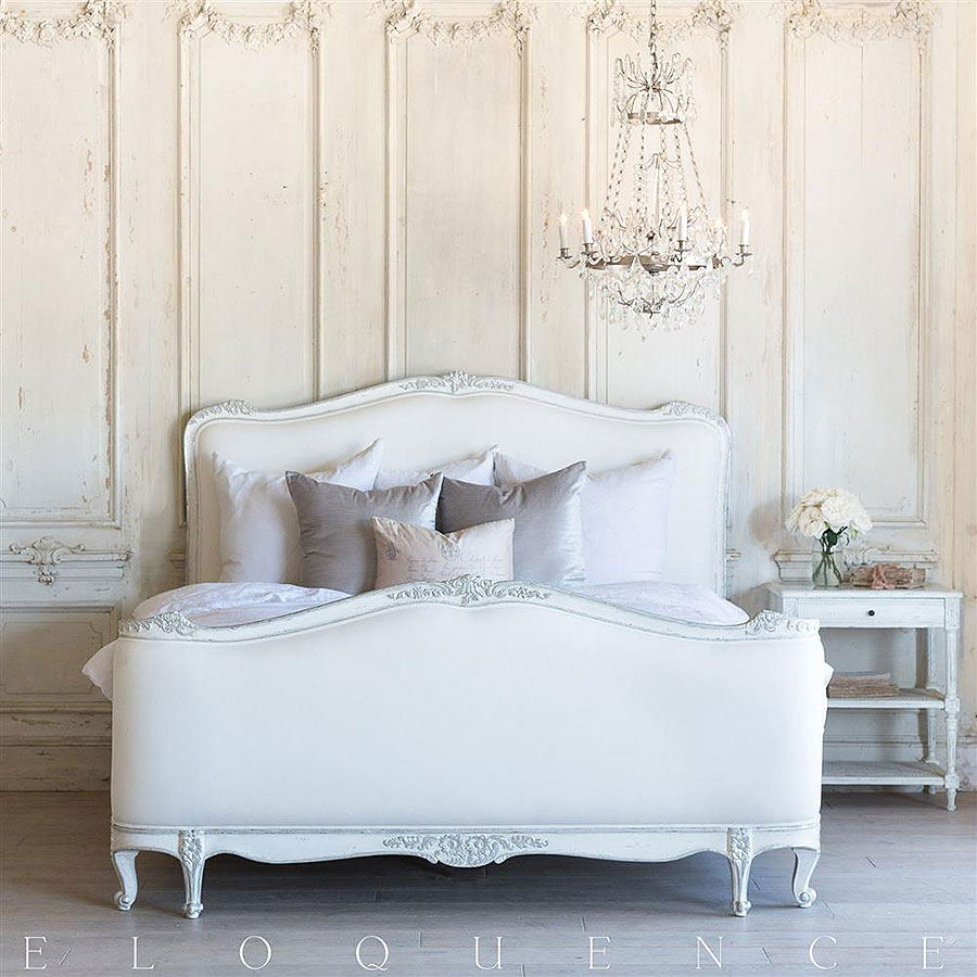 Sophia French Country Bedroom in Silver Antique White