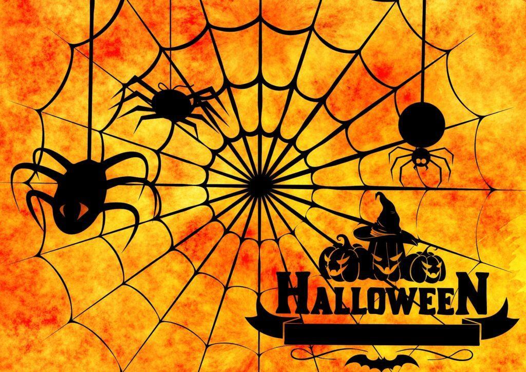 Spider Web Halloween Printable Sign
