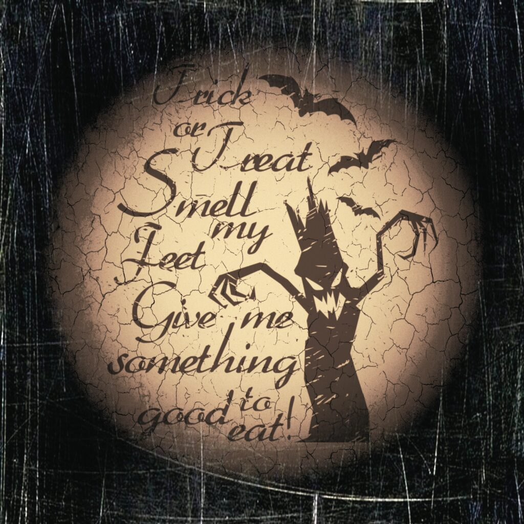 Trick or Treat Saying Spooky Halloween Printable Image