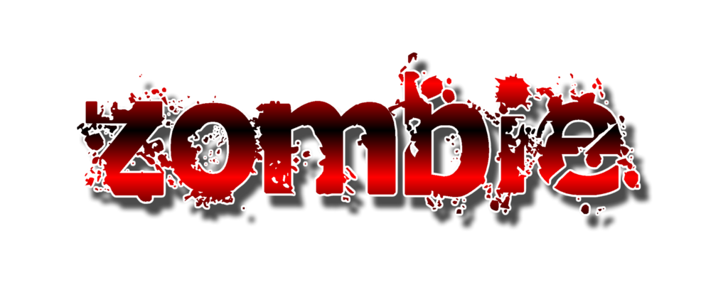 Zombie Text Halloween Clip Art