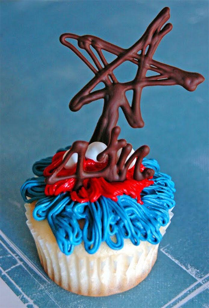 4th Stars Patriotic Cupcake