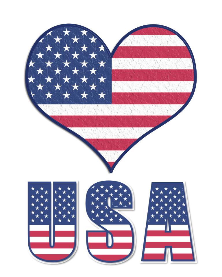 4th of July I Love USA Printable