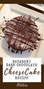 Dark Chocolate Fudge Truffle Cheesecake Recipe