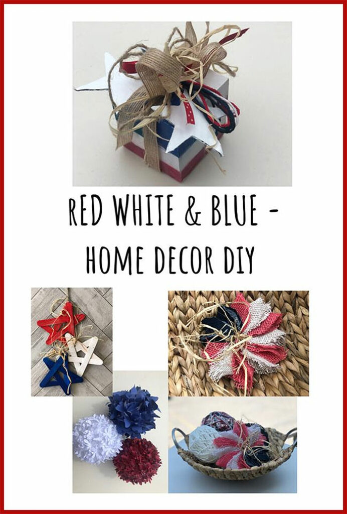 Easy Red, White and Blue DIY Home Decor Ideas