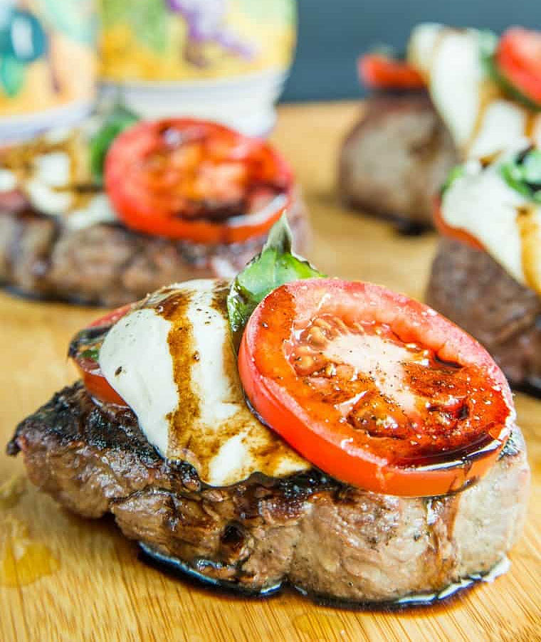 Italian Inspired Grilled Filet Mignon with Caprese