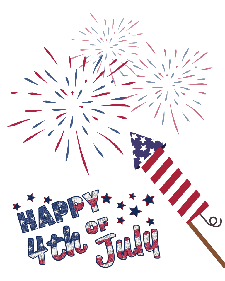 Happy 4th of July Fireworks Printable