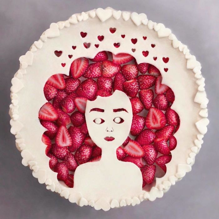 Portrait of a Woman Strawberry Pie