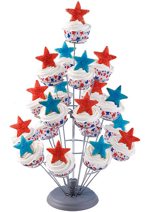 Stars Bursting Into Air Cupcake Tree