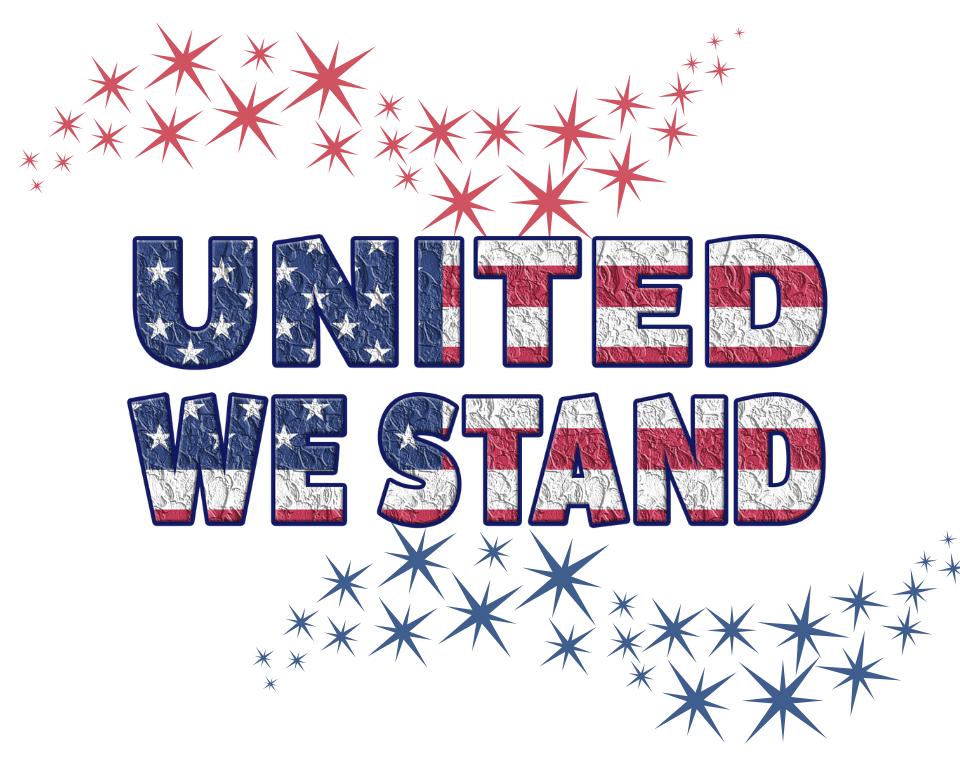 USA United We Stand Printable