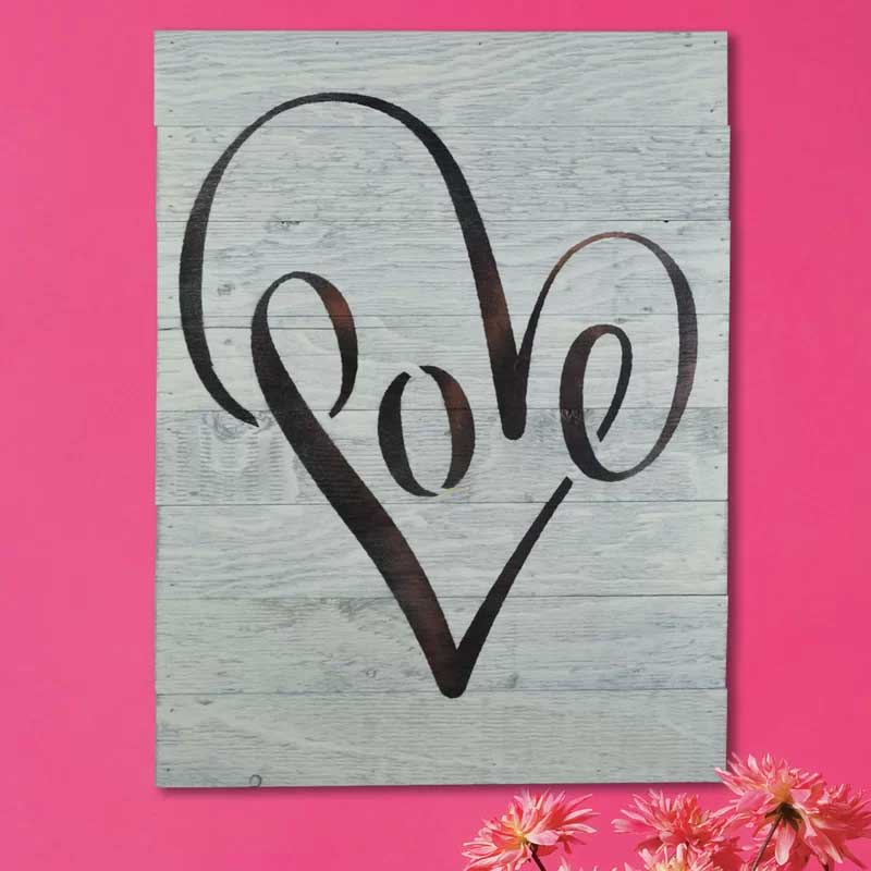 Love Wooden Pallet Wall Sign