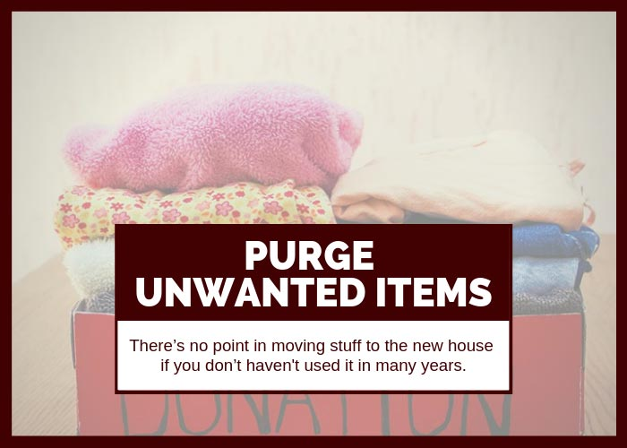Moving Tip #12 Purge Unwanted Items
