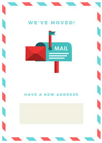 Free Printable Moving Announcement Card