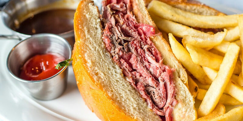 Slow Cooked-Roast Beef Sandwiches