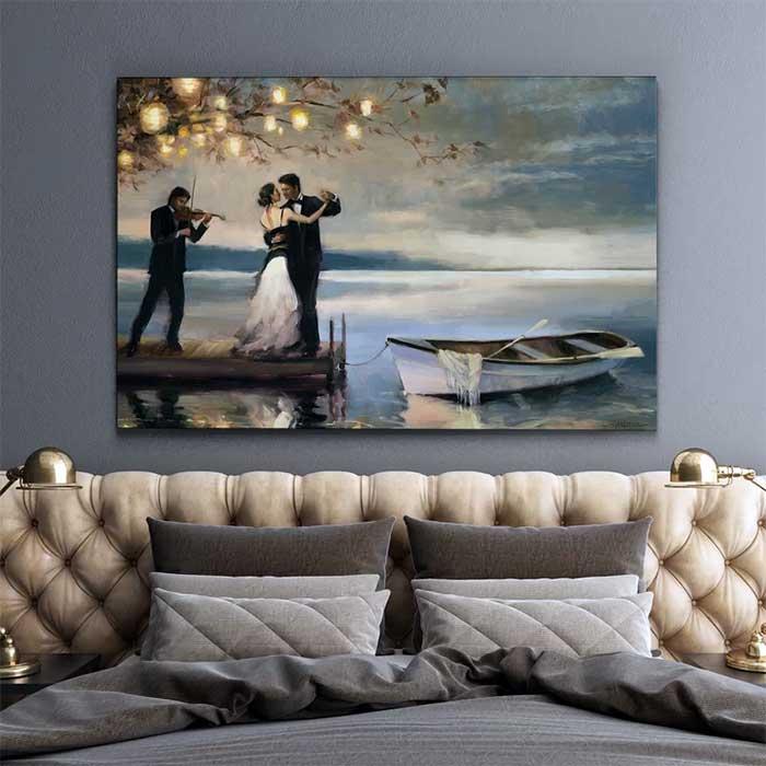 Twilight Romance Oil Painting Print on Canvas