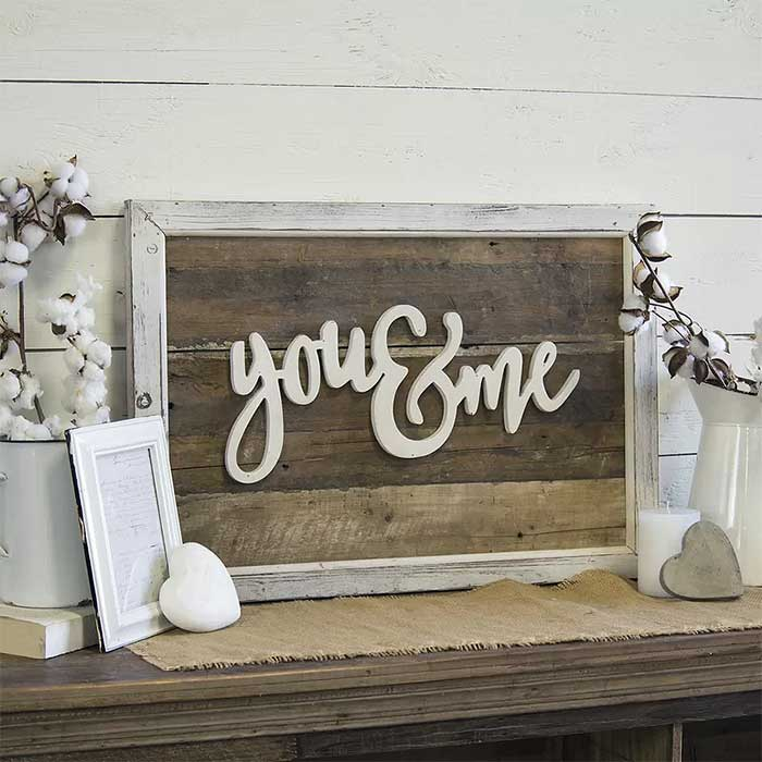 You and Me Wood Wall Decor