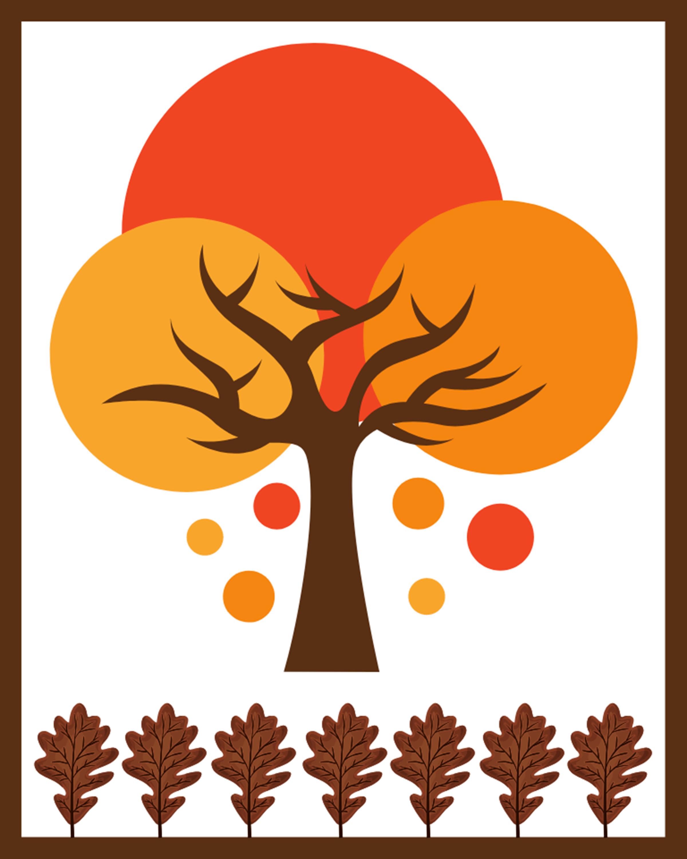 Abstract Fall Colors DIY Printable 8x10