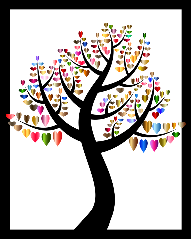 Fall Love Tree DIY Printable 8x10