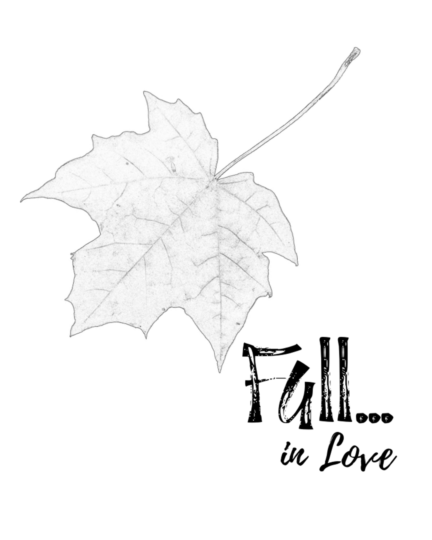 Fall in Love DIY Printable 8x10