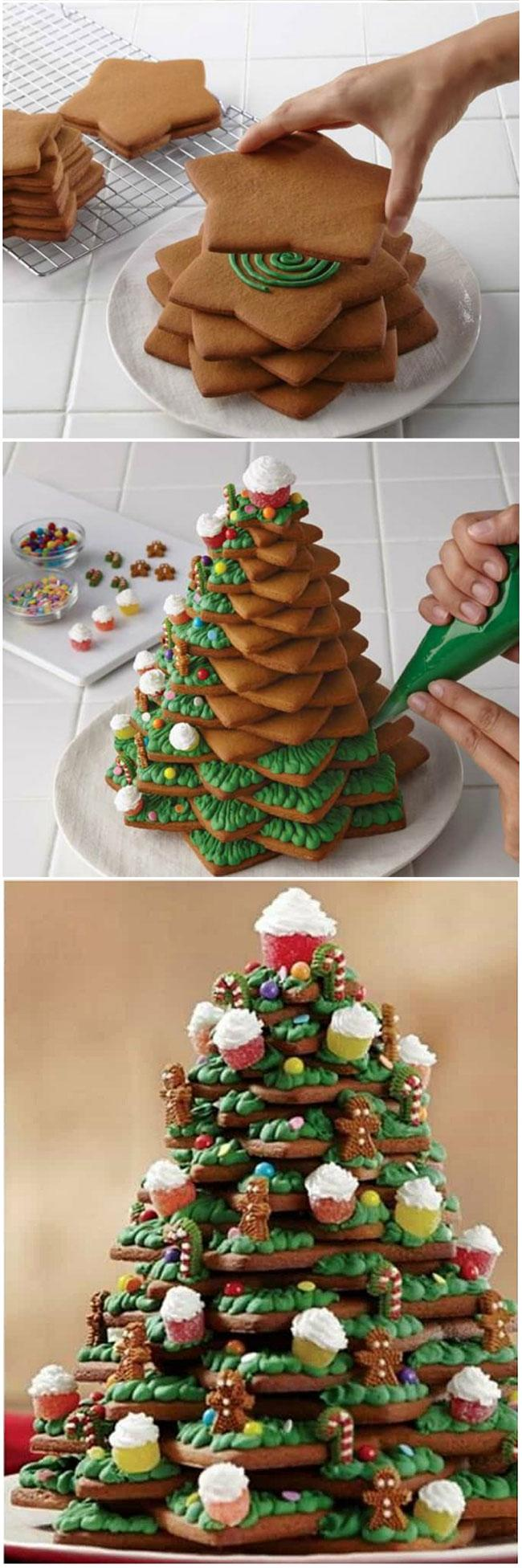 3D Gingerbread Cookie Christmas Tree