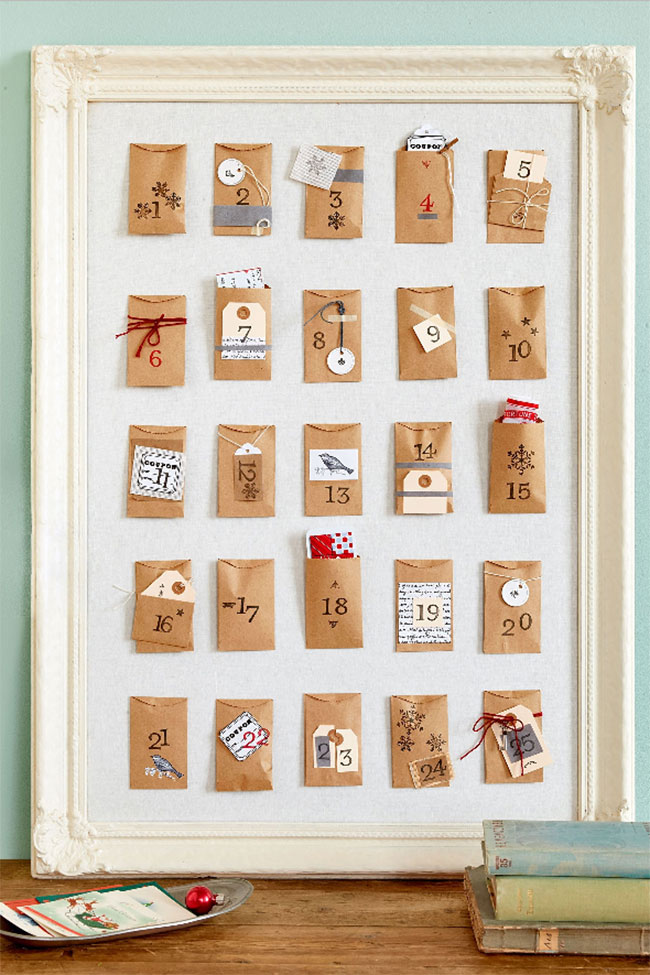 DIY Cork Board Advent Calendar