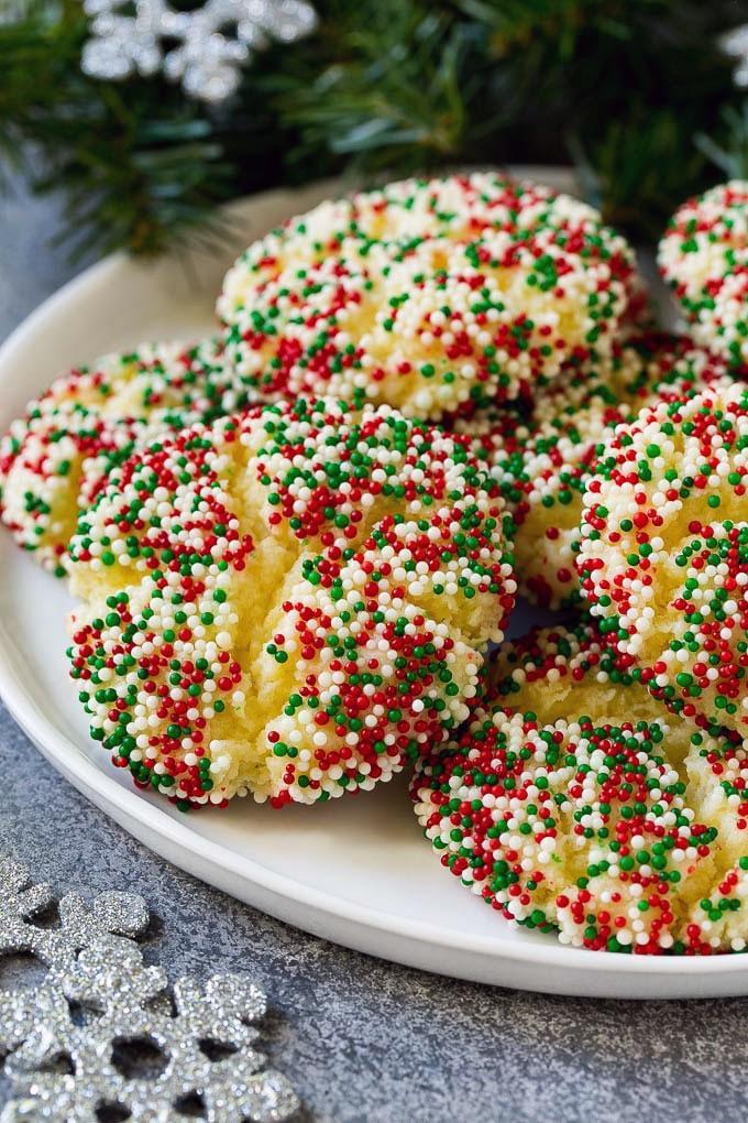 Gooey Christmas Butter Cookies