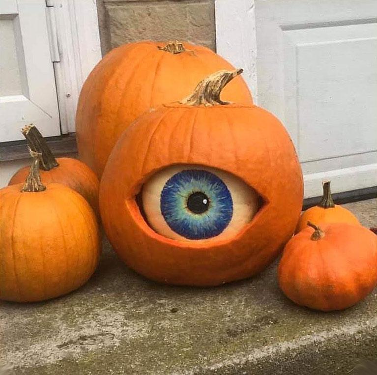 Creepy Eyeball Pumpkin