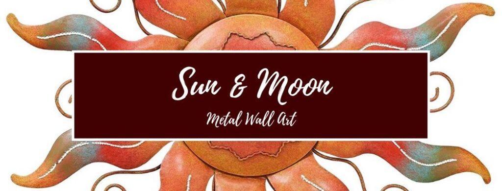 Shop Sun and Moon Metal Wall Art