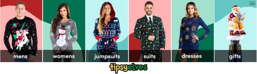 Tipsy Elves Christmas Ad
